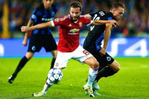 Club Brugge vs Man United match draws