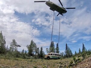 "US Update: National Guard Airlifts ""Into The Wild"" Bus From Alaska Trail Over Safety Concerns"